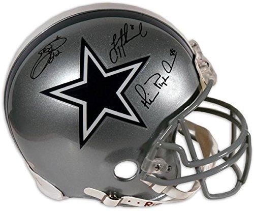 Cowboys Pro Autographed Dallas Helmet - Dallas Cowboys Aikman, Irvin, Smith Autographed Pro Helmet - Fanatics Authentic Certified - Autographed NFL Helmets