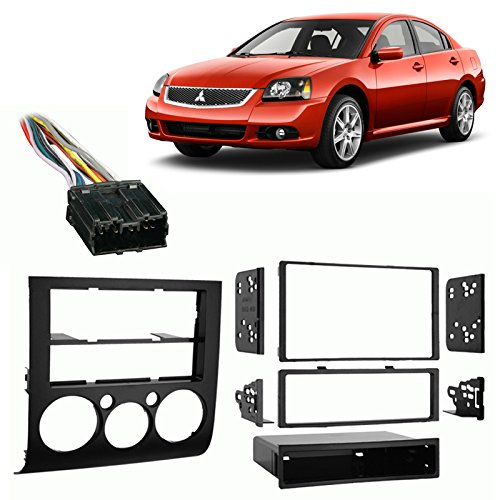 Mitsubishi Single Galant (Fits Mitsubishi Galant 04-13 w/Auto Climate Control Harness Radio Dash Kit)