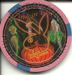 $5 palms playboy halloween las vegas casino chip]()