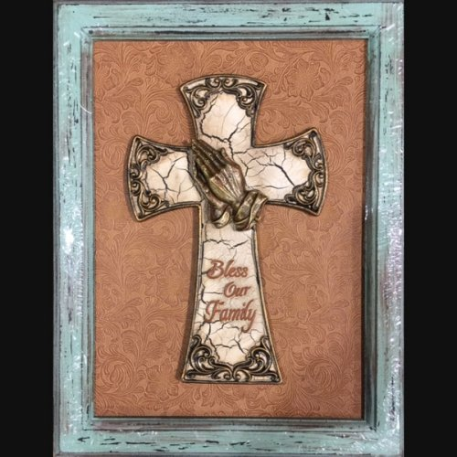 framed cross F313 18 x 14