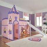girl bed with slide - NE Kids School House Princess Loft in White