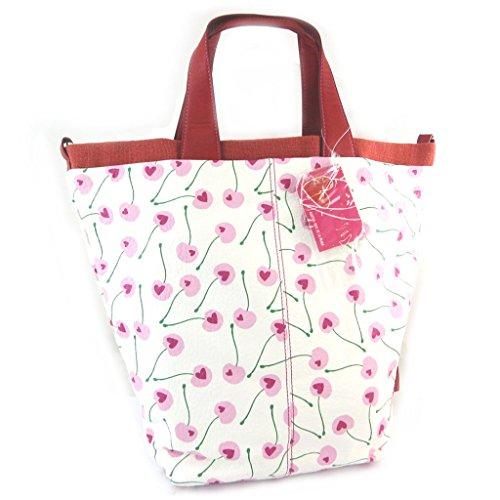 french touch' bolsa 'Agatha Ruiz De La Prada'rosa blanco - amor de las cerezas.