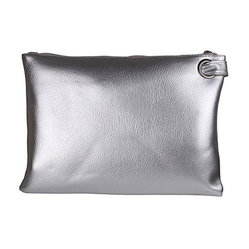 (Aladin Oversized Clutch Bag Purse, Womens Large leather Evening Wristlet Handbag)
