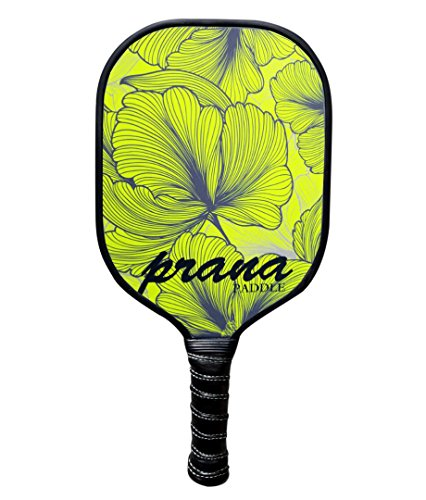 Prana Graphite Pickleball Paddle Green Leaf Honey PP Core, All Carbon Pickle Ball Paddles