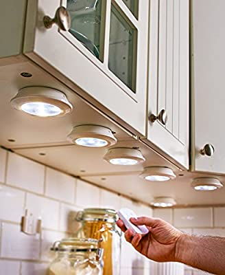 6-Pc. Wireless Lighting with Push On or Remote Timer Dimmer
