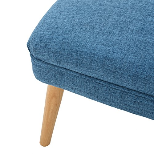 Dumont Mid Century Modern Fabric Ottoman (Blue) by GDF Studio (Image #3)