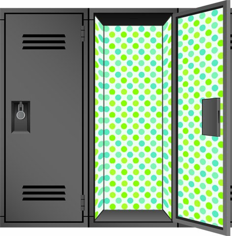 locker designz deluxe magnetic locker wallpaper polka dot