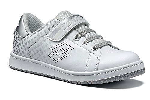 Lotto - Zapatillas de tenis de Material Sintético para niño WHITE/SILVER METAL