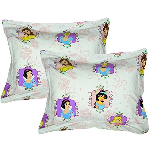 Disney Princesses Pillow Shams Set 2pc Princess Twist Jasmine Cinderella Bed Pillow Covers by Store51 LLC