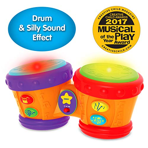 The Learning Journey Early Learning - Little Baby Bongo Drums - Electronic Musical Toddler Toys & Gifts for Boys & Girls Ages 12 Months & Up - Award Winning Musical Learning Toy