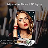 Qivange Makeup Vanity Mirror, Adjustable 20pcs LED