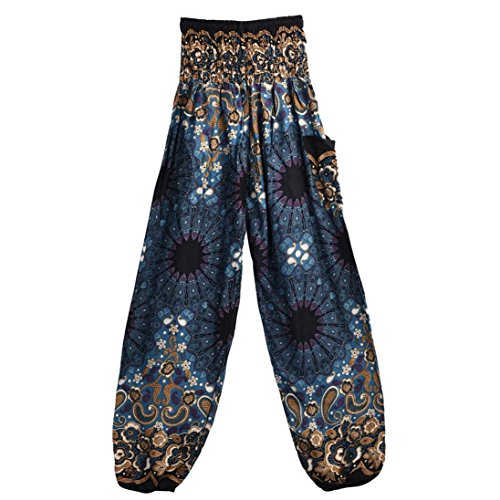 44e6745d5 Litetao Men Women Thai Harem Trousers Festival Hippy Smock Performance Yoga  Pants Clearance (Free Size