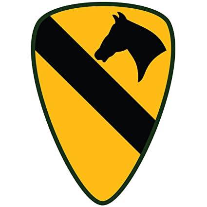 Amazon.com   US Army - 1st Cavalry Division SSI Patch Decal - 3.5 Inch Tall  Full Color Decal c02b8e7bfb2