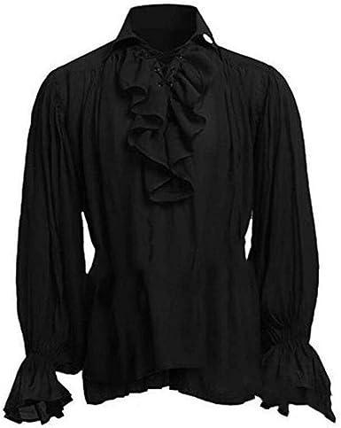 Babao Hombres Disfraz Túnica Medieval Camisa De Renaissance: Amazon.es: Ropa y accesorios
