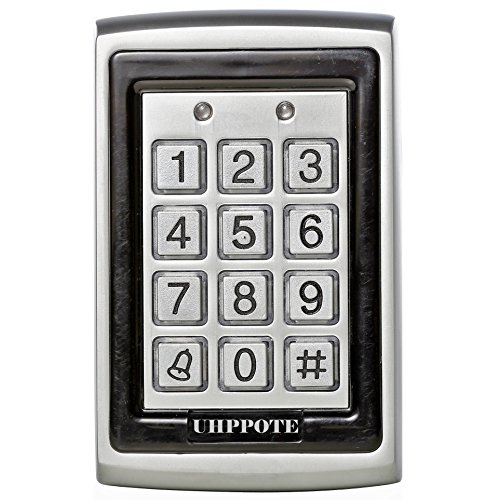 UHPPOTE 125Khz EM-ID Metal Case RFID Access Control Keypad With Back Light Support 500 User by UHPPOTE