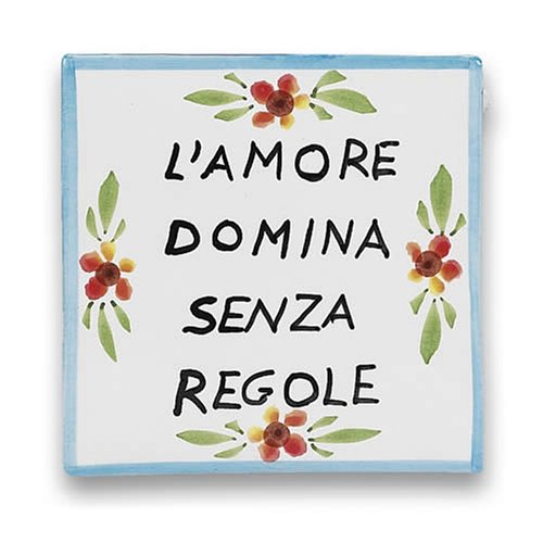 (Antipasti Handmade Proverb Plaque - Handmade in Italy)