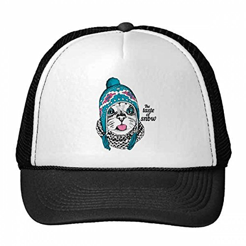 DIYthinker Cat Head The Taste of Snow Cat Protect Animal Pet Trucker Hat Baseball Cap Nylon Mesh Hat Cool Children Hat Adjustable Cap Gift
