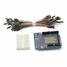 SainSmart Prototyping Prototype Shield + Mini Breadboard + Free Jumper Cable for Arduino UNO Mega Nano DUE Robot