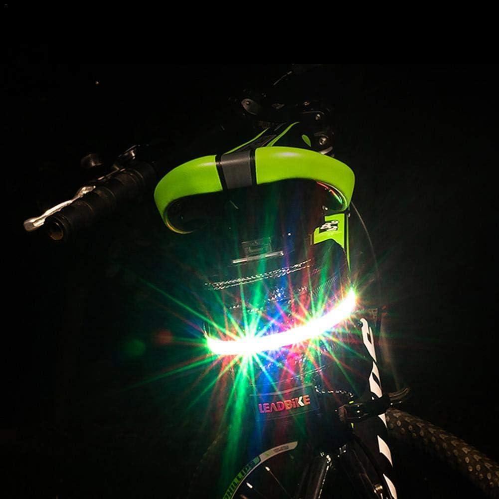 Bolsa de Almacenamiento Impermeable para Montar con Carga USB Luz de Advertencia LED Luminosa Kind Explea Bolsa de sill/ín de Bicicleta