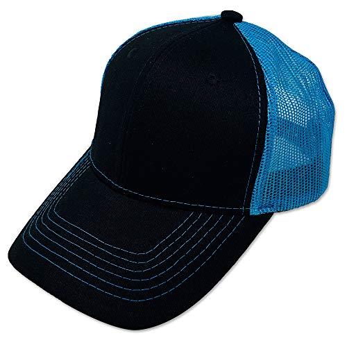 (DANKONG Blank Trucker Hat - Classic 6 Panels Curved Bill Visor Baseball Mesh Cap Hot Weather, Summer, Outdoor, Running, Car Driving, Vacation, Fishing, Sport, Daily - Neon -)