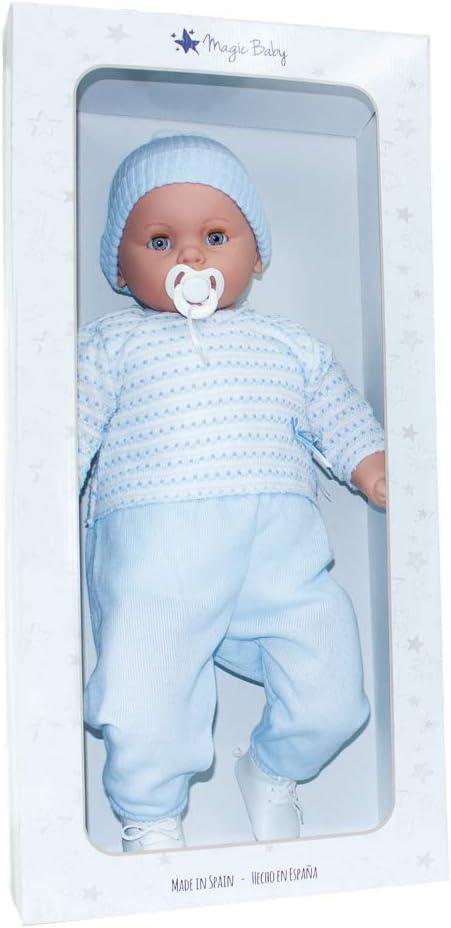 Amazon.es: Magic Baby MUÑECA Bebe Bobo NIÑO Punto EN Azul: Juguetes y juegos