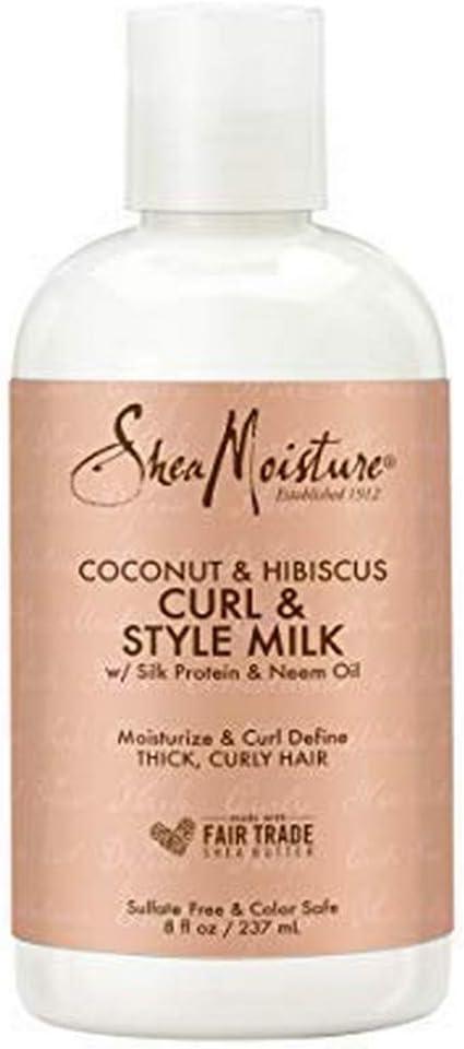 Shea Humedad Coco y Hibiscus acondicionado Curl / Estilo de leche, 237 ml