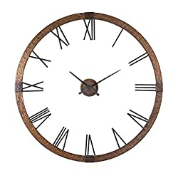 Uttermost 06655 Amarion Copper Wall Clock