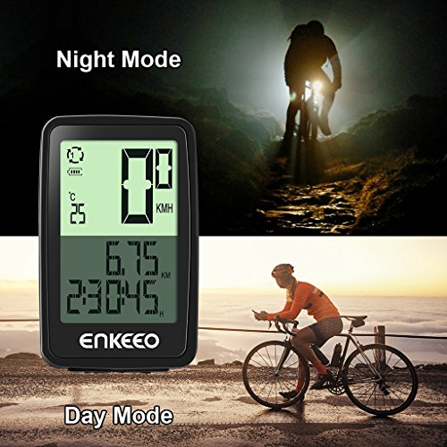 Enkeeo Wired Bike Computer USB Rechargeable Bicycle Speedometer Odometer with 12 Hour Backlight Display, Current/AVG/MAX Speed Tracking, Trip Time/ Distance Recording for Cycling by Enkeeo (Image #5)