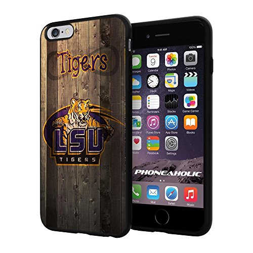 NCAA ISU Tiger football, Cool iPhone 6 Plus (6+ , 5.5'') Smartphone Case Cover Collector iphone TPU Rubber Case Black by NasaCover