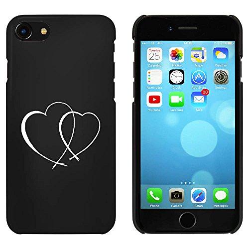 Noir 'Deux Coeurs d'Amour' étui / housse pour iPhone 7 (MC00055937)