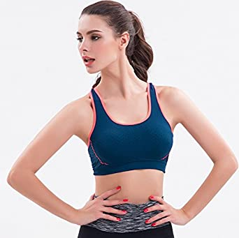 big face cat Workout Yoga trackless Bra Sports Vest: Amazon ...