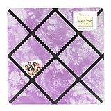 Purple Groovy Peace Out Tie Dye Fabric Memory/Memo Photo Bulletin Board by Sweet Jojo Designs, Baby & Kids Zone