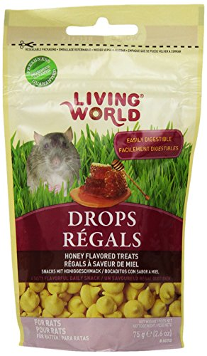 Living World Drops 2.6-Ounce Rat Treats, Honey