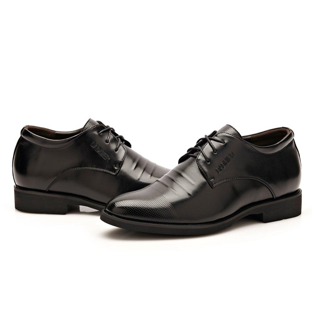 GBY Männer Klassische Klassische Klassische Spitzenkleid Schuhe Höhe Zunehmende PU Leder Oxfords Business Hochzeit Formelle Schuhe für Herren Atmungsaktiv 123c68