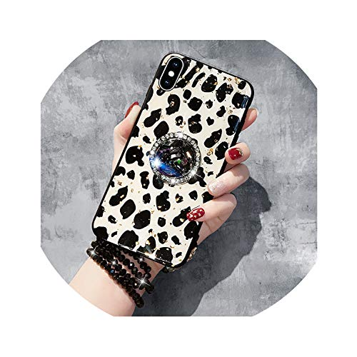Leopard-Print Luxury Phone Case Full Drill Bracket for iPhone X XS MAX XR 6 6S Dropping Glue Cover for iPhone 7 8 Plus,A3,for iPhone 6(S) Plus