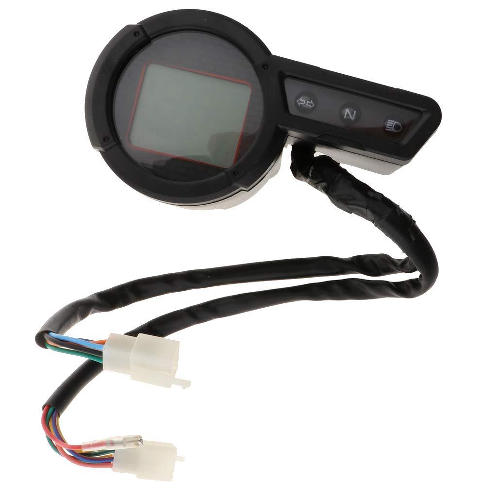 H HILABEE Pantalla Universal de Od/ómetro LCD para Motocicleta para Yamaha Tricker XG250