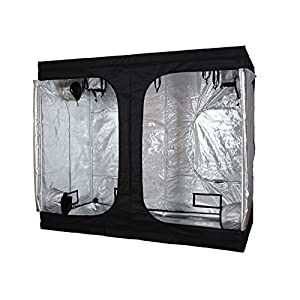 "96x48x78"" Indoor Grow Tent Room Reflective Mylar Hydroponic Non Toxic Hut 600D 8x4x6.5FT HX-009678-M"