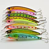 Wholesale 8pcs/Lot Deep Dive Minnow Fishing Lures Crank Bait Hooks Bass Fishing Tackle Rattling Beads 11CM/13.4G For Sale