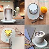 Mug Warmer Coffee Warmer with Automatic Shut Off to Keep Temperature Up to 131℉/ 55℃ with a Silicone Mug Cover Safely Use for Office/Home to Warm Coffee Tea Milk Candle Heating Wax