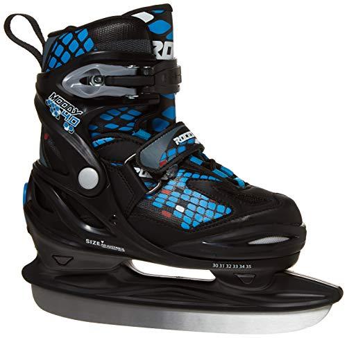 Roces 450654 Men's Model Moody Ice Skate, US 13jr-3, Black/Astro Blue/Red