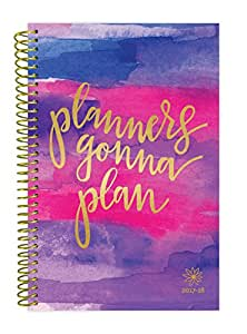 "bloom daily planners 2017-18 Academic Year Daily Planner - Passion/Goal Organizer - Monthly and Weekly Datebook and Calendar - August 2017 - July 2018 - 6"" x 8.25"" - Planners Gonna Plan"