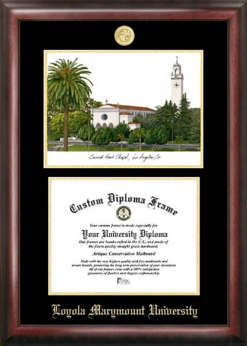 - Campus Images Loyola Marymount 11w x 8.5h Gold Embossed Diploma Frame Lithograph