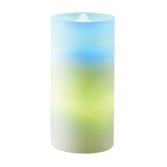 "One Hundred 80 Degrees Flameless Candle & Tabletop Fountain   Color Changing Led Lighted Remote Controlled 7"" Tall by One Hundred 80 Degrees"