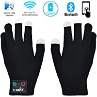 Bluetooth Touchscreen Gloves Men & Women – Wireless Smart Gloves With Built In Microphone & Speaker Compatible With Iphone, Android And Tablets Up To 6 H Calls, Perfect Christmas Gift
