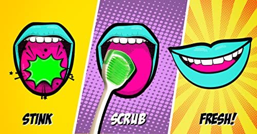 Orabrush Tongue Cleaner  Helps Fight Bad Breath  4 Tongue Scrapers