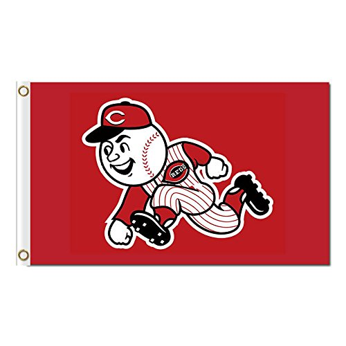 Five Star Flags New Cincinnati Reds Flag, Reds Flag, Flag for Indoor or Outdoor Use, 100% Polyester, 3 x 5 Feet.