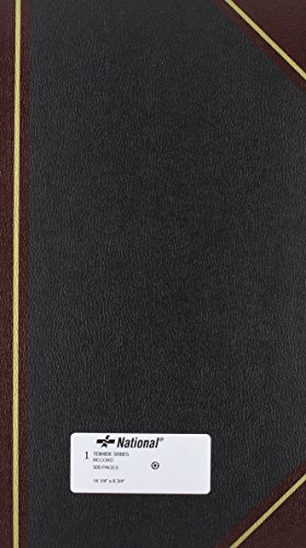 (NATIONAL Texhide Series Record Book, Black, 14.25