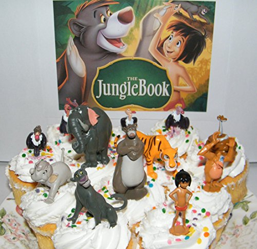Disney The Jungle Book Deluxe Mini Cupcake Decorations Set of 12 Figures