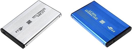 Shiwaki 2パックアルミ合金ハードドライブエンクロージャカバー2.5インチUSB 2.0ラップトップ用