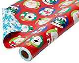 American Greetings Kids Christmas Wrapping Paper Reversible Jumbo Roll